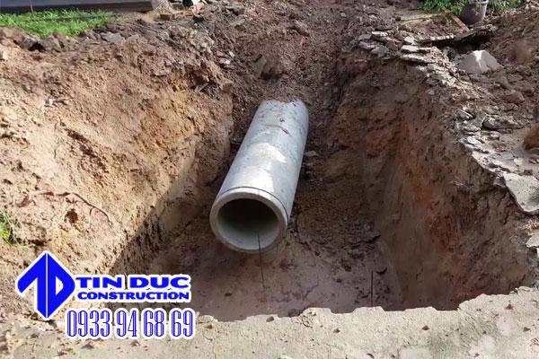 đào đường cống thoát nước