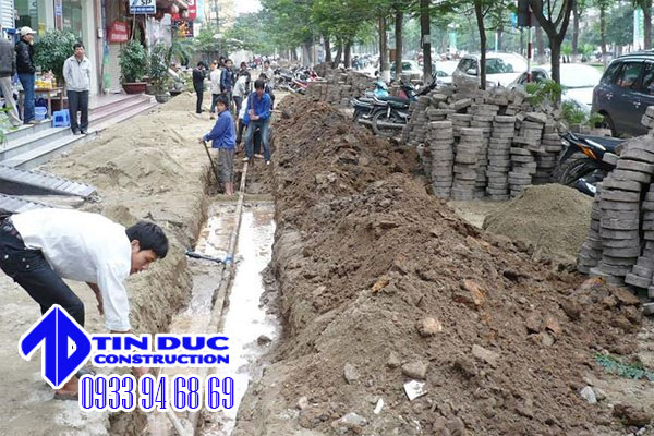 công ty đào đường cống thoát nước tại tphcm