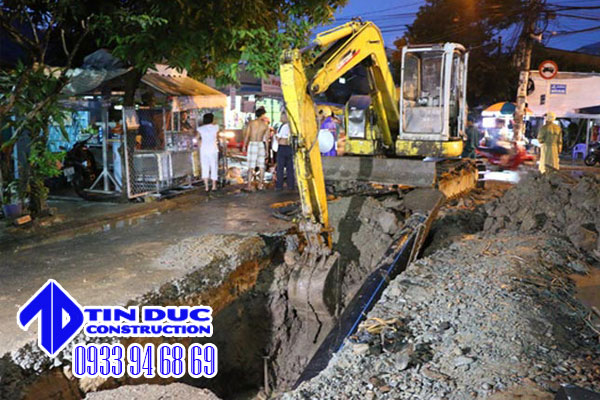 đơn vị đào đường cống thoát nước